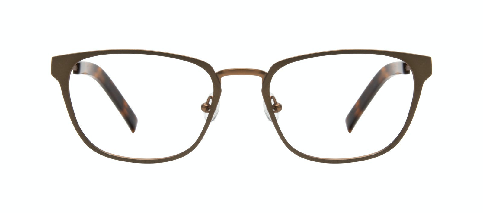 Affordable Fashion Glasses Square Eyeglasses Men Flex Khaki Front