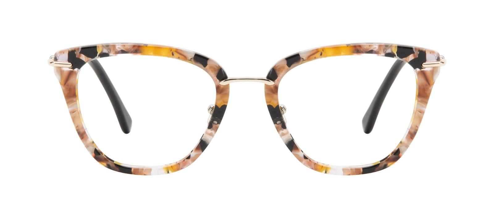 Affordable Fashion Glasses Square Eyeglasses Women Flirt Black Flake Front