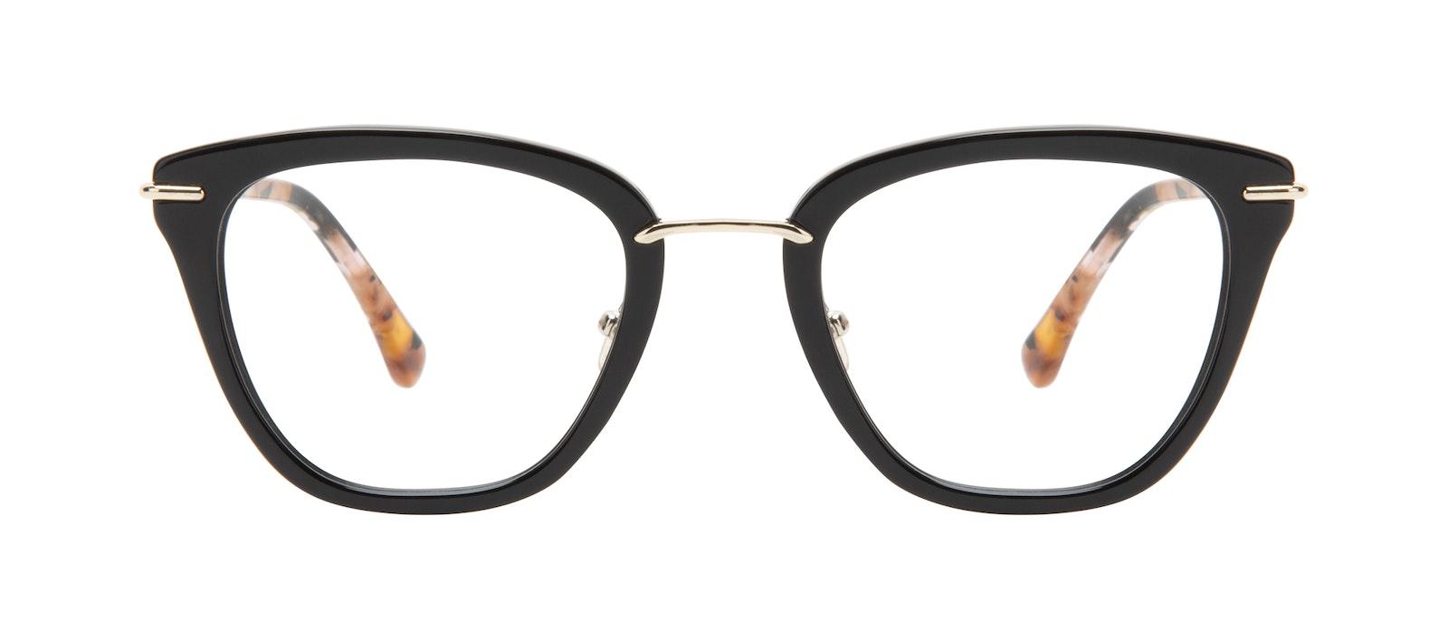 58d9343f5196 Affordable Fashion Glasses Square Eyeglasses Women Flirt Ebony Front