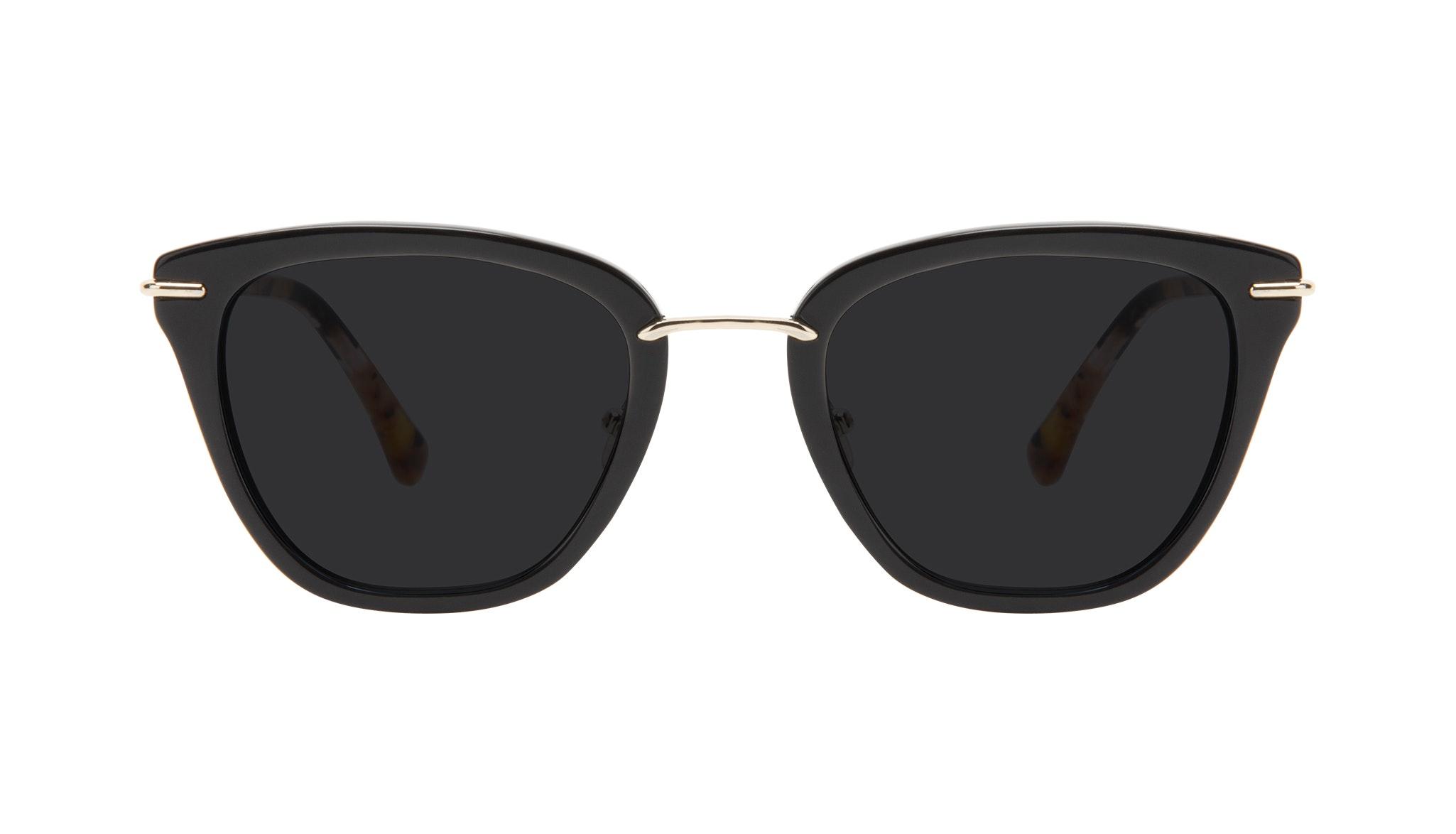 Affordable Fashion Glasses Square Sunglasses Women Flirt Ebony Front