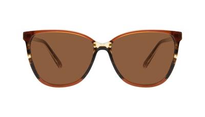 Affordable Fashion Glasses Square Sunglasses Women Flora Aurora Front