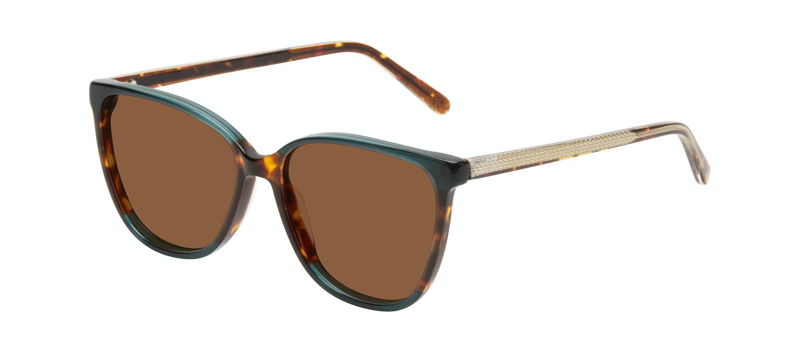 Affordable Fashion Glasses Square Sunglasses Women Flora Pine Tilt