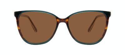 Affordable Fashion Glasses Square Sunglasses Women Flora Pine Front