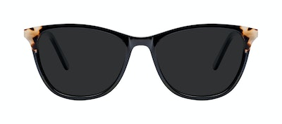 Affordable Fashion Glasses Rectangle Sunglasses Women Folk Ebony Granite Front