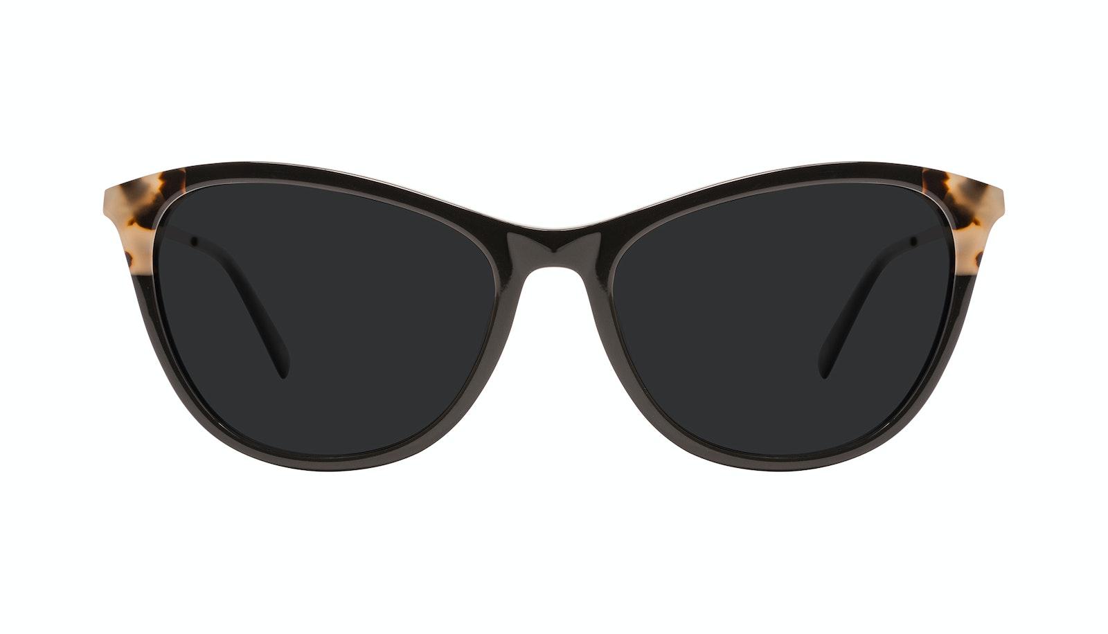 Affordable Fashion Glasses Rectangle Sunglasses Women Folk Plus Ebony Granite