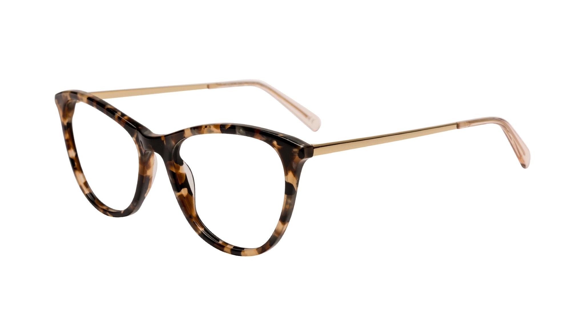 Affordable Fashion Glasses Rectangle Eyeglasses Women Folk Plus Gold Flake Tilt