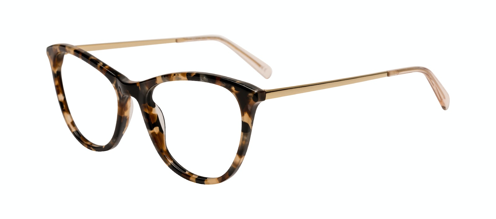 Affordable Fashion Glasses Rectangle Eyeglasses Women Folk Plus Gold Flake Tilt