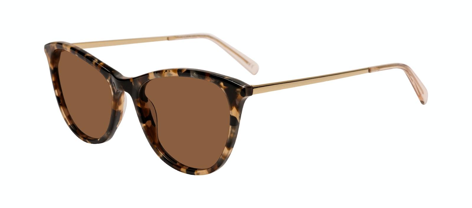 Affordable Fashion Glasses Rectangle Sunglasses Women Folk Plus Gold Flake Tilt