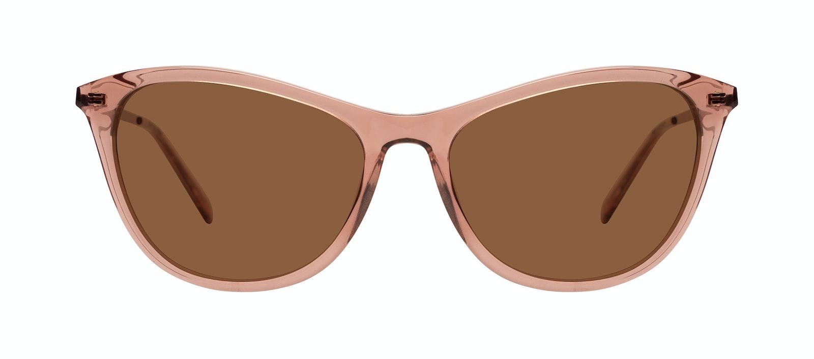 Affordable Fashion Glasses Rectangle Sunglasses Women Folk Plus Rose Front