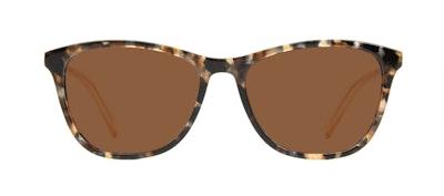 Affordable Fashion Glasses Rectangle Sunglasses Women Folk Gold Flake Front