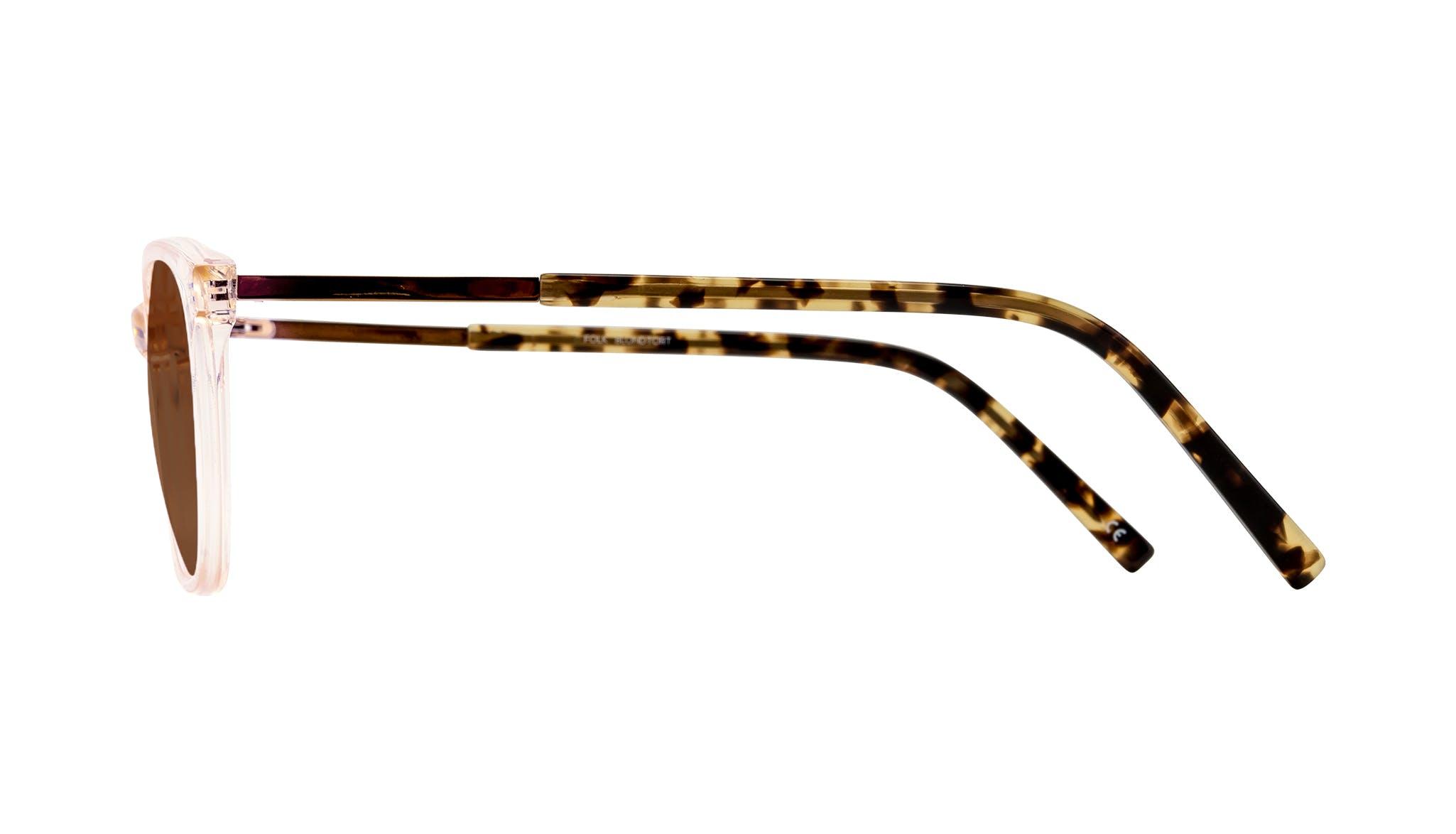 Affordable Fashion Glasses Cat Eye Rectangle Sunglasses Women Folk Blond Tortoise Side