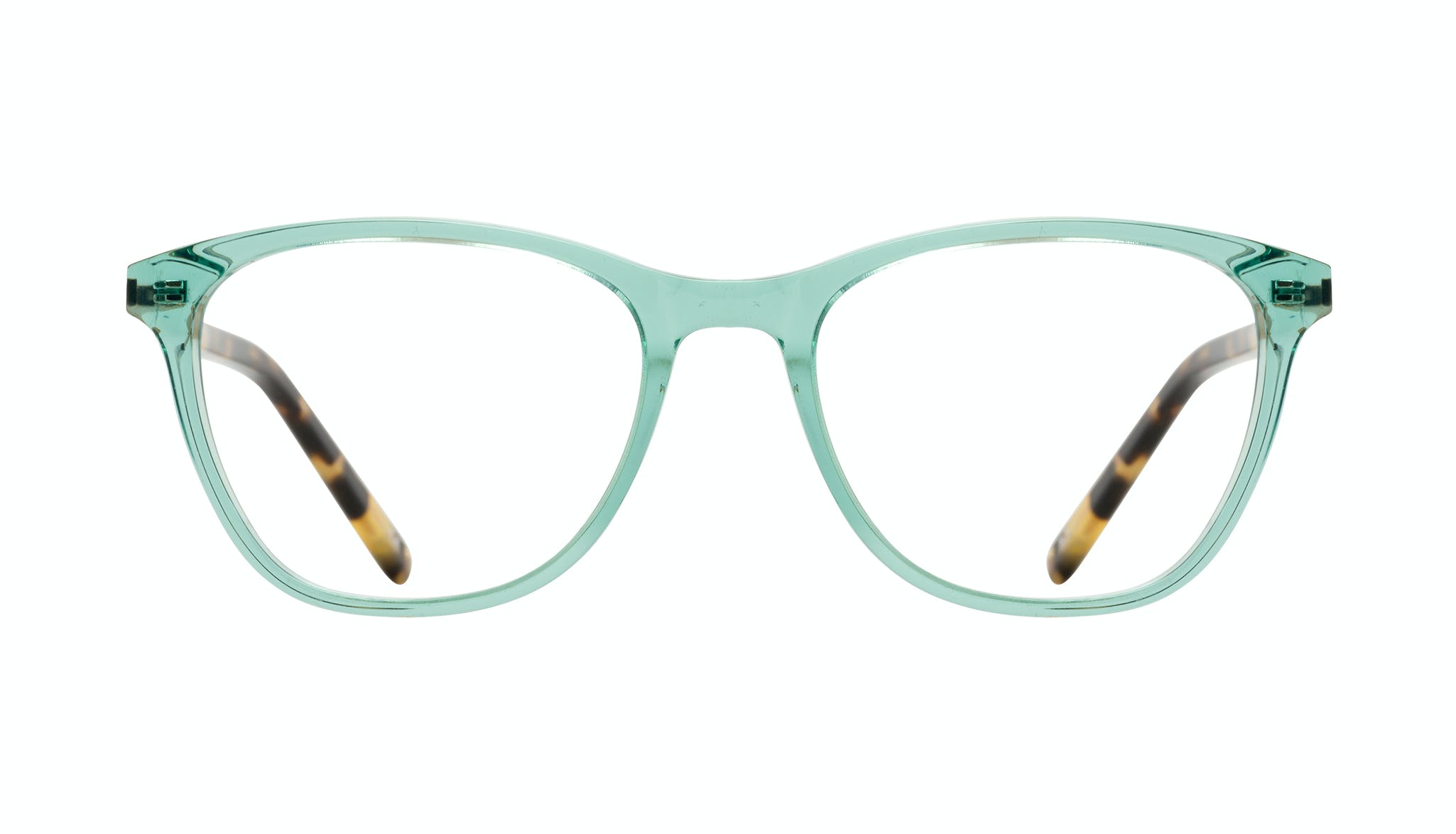 Affordable Fashion Glasses Cat Eye Rectangle Eyeglasses Women Folk Emeraude Tort Front