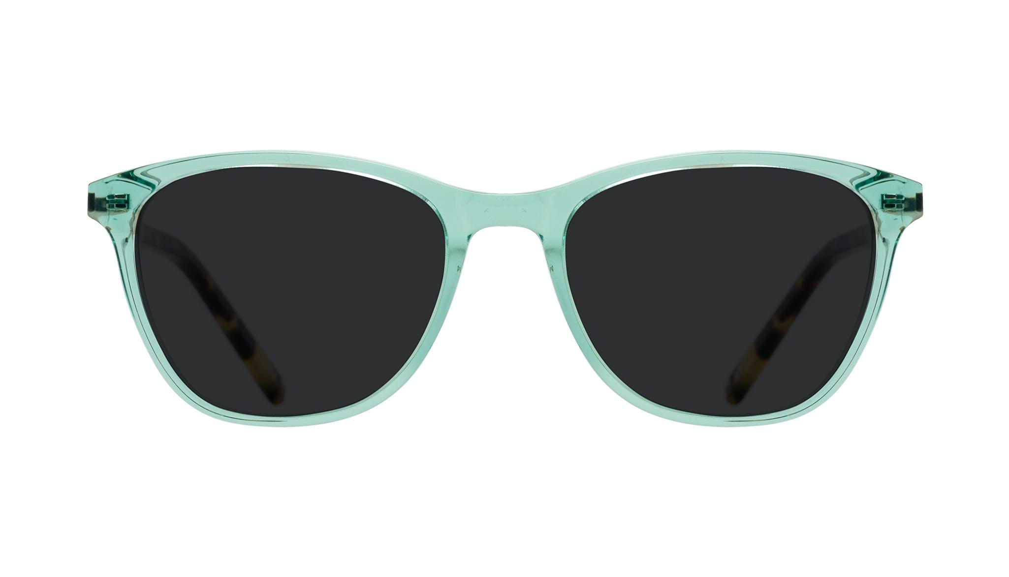 Affordable Fashion Glasses Cat Eye Rectangle Sunglasses Women Folk Emeraude Tort Front