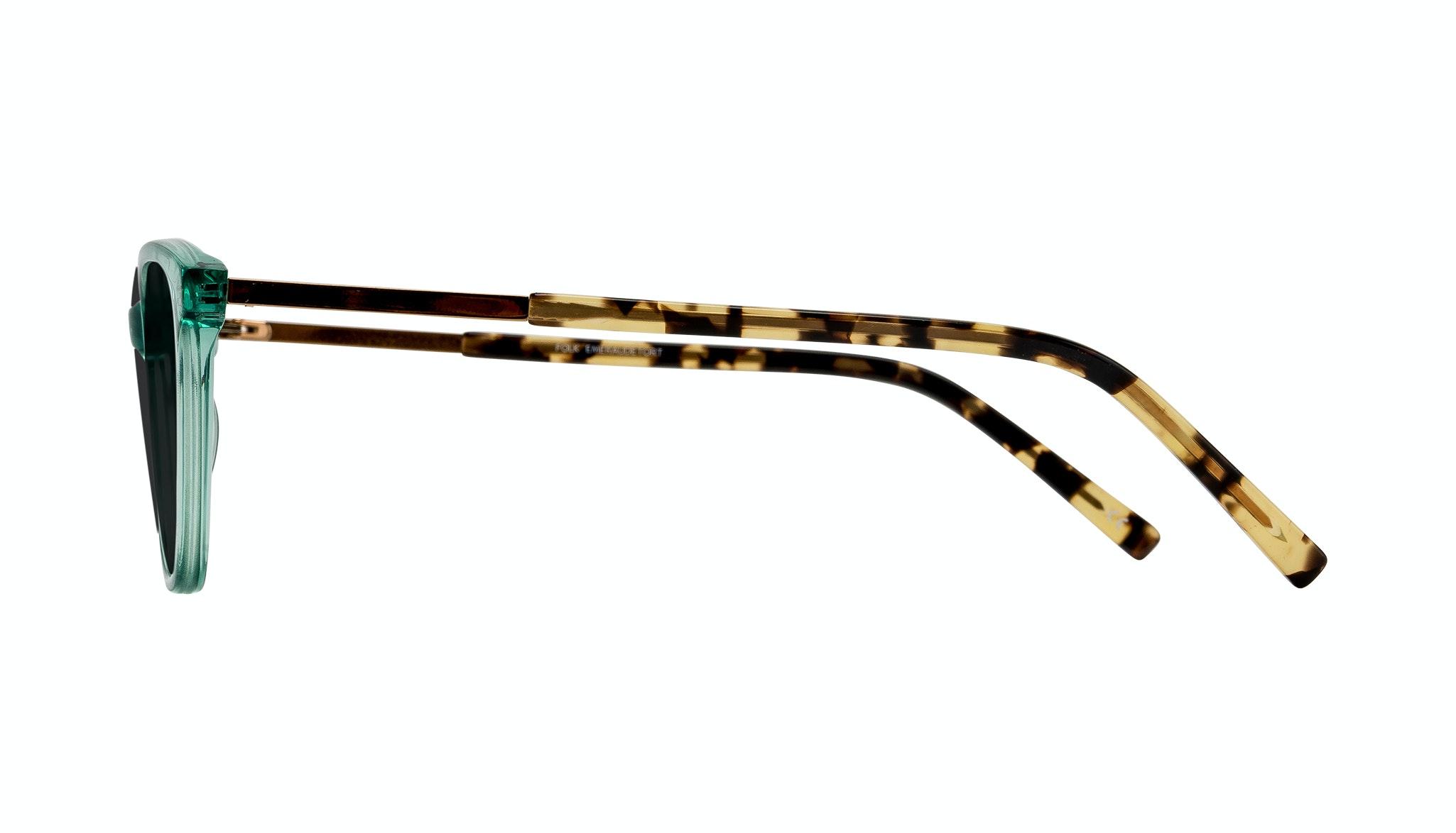 Affordable Fashion Glasses Cat Eye Rectangle Sunglasses Women Folk Emeraude Tort Side