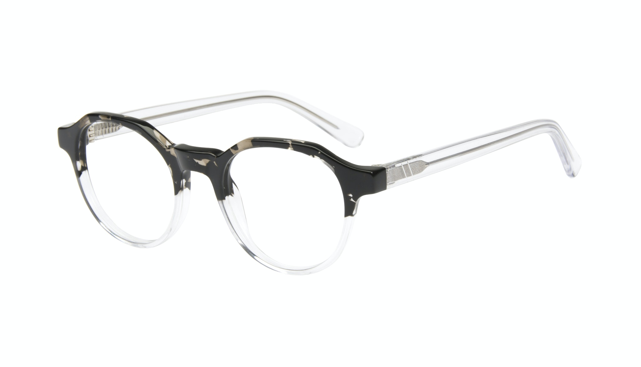 Affordable Fashion Glasses Round Eyeglasses Men Form Stone Clear Tilt
