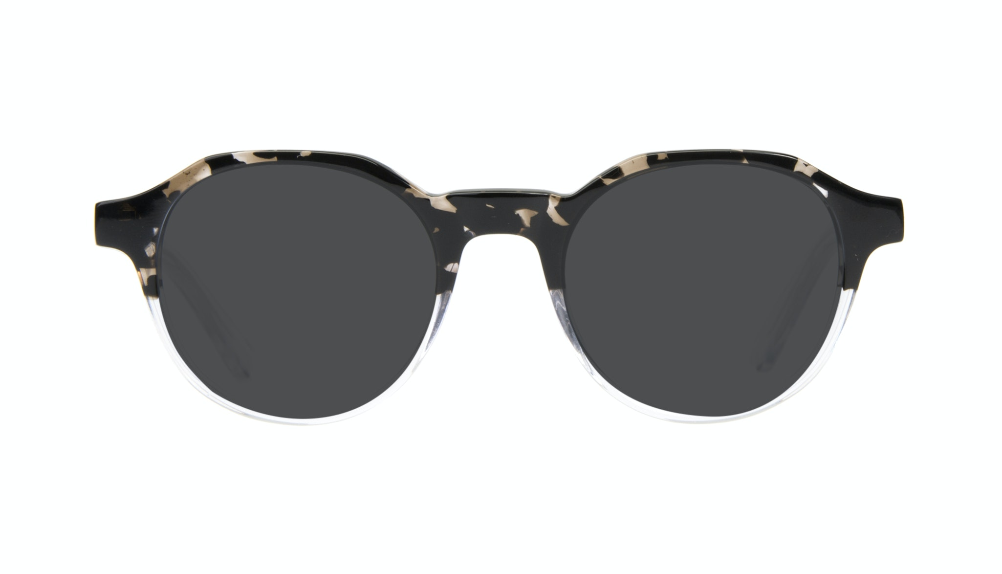 Affordable Fashion Glasses Round Sunglasses Men Form Stone Clear Front