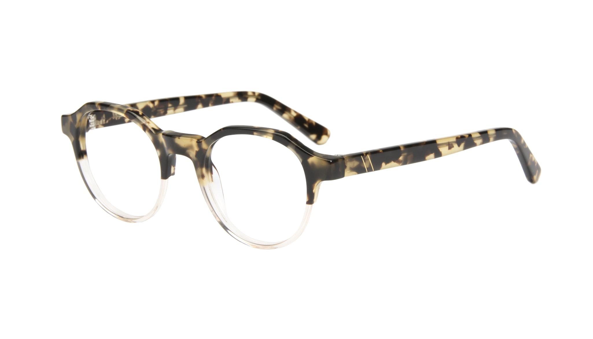 Affordable Fashion Glasses Round Eyeglasses Men Form Golden Tort Tilt
