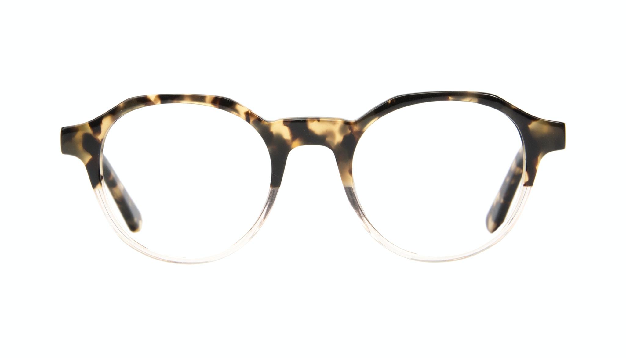 Affordable Fashion Glasses Round Eyeglasses Men Form Golden Tort Front