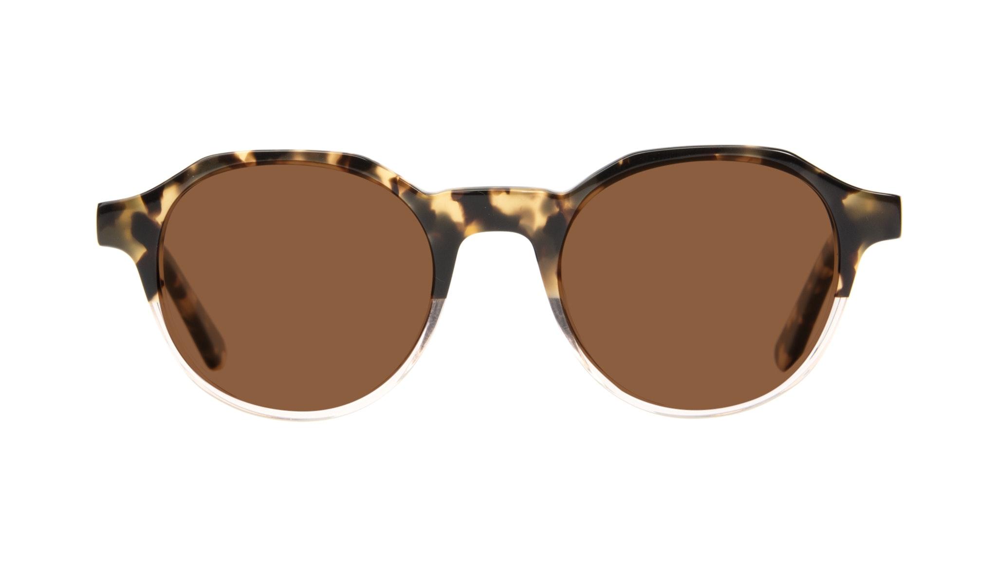 Affordable Fashion Glasses Round Sunglasses Men Form Golden Tort Front