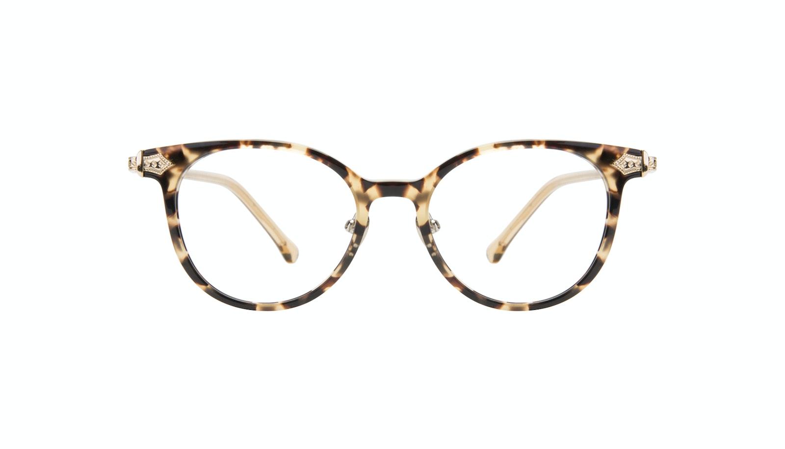 Affordable Fashion Glasses Round Eyeglasses Women Gem Golden Chip