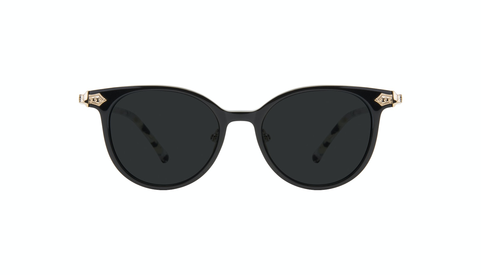 Affordable Fashion Glasses Round Sunglasses Women Gem Onyx Marble