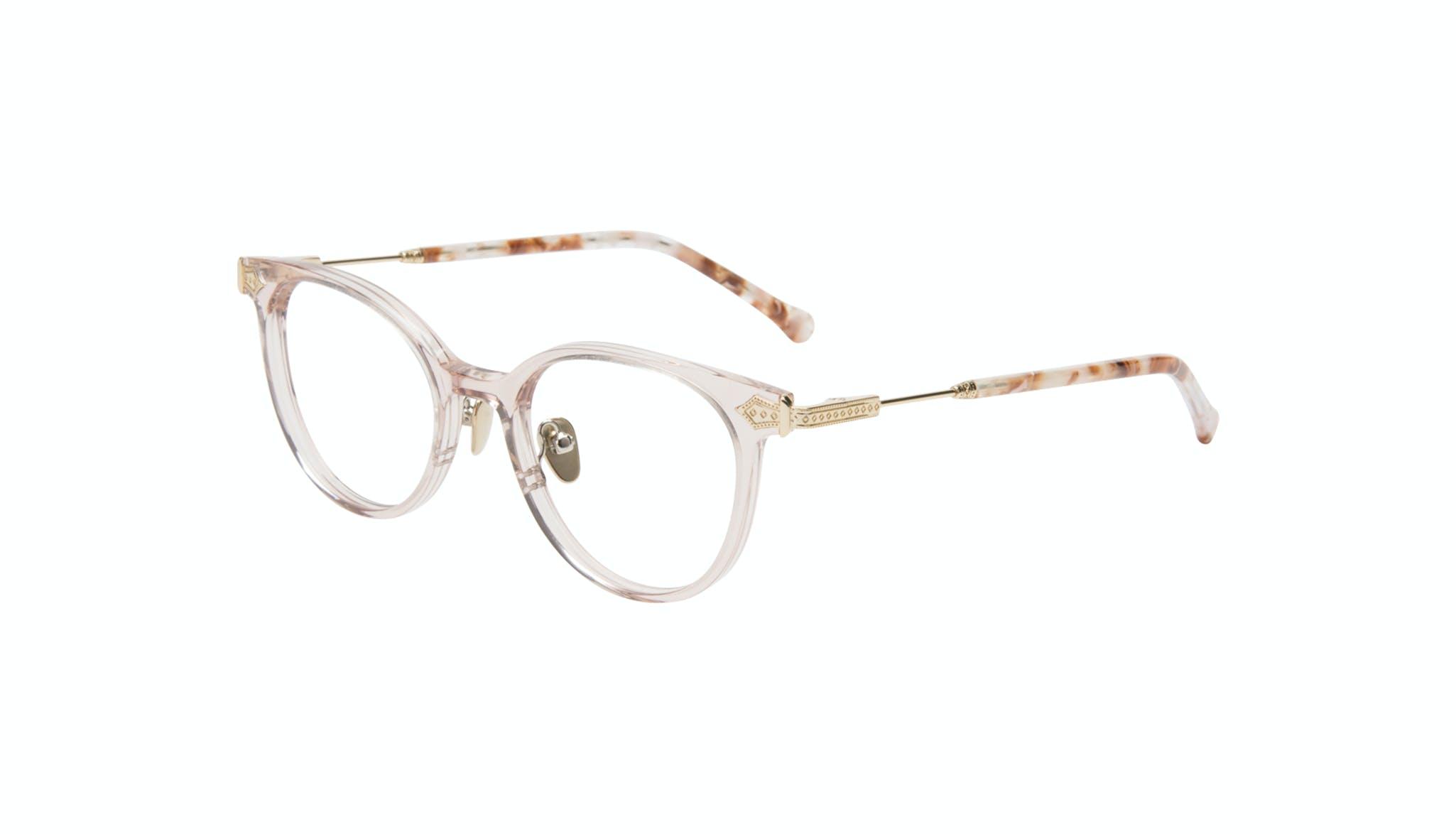 Affordable Fashion Glasses Round Eyeglasses Women Gem Pink Quartz Tilt