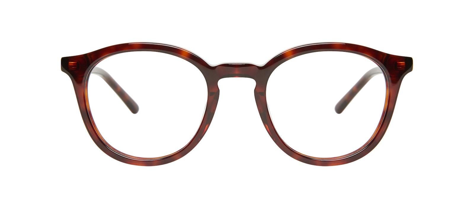 Affordable Fashion Glasses Round Eyeglasses Kids Gent Junior Tortoise Front