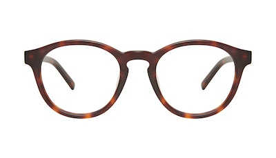 Affordable Fashion Glasses Round Eyeglasses Men Gent Matte Tortoise Front