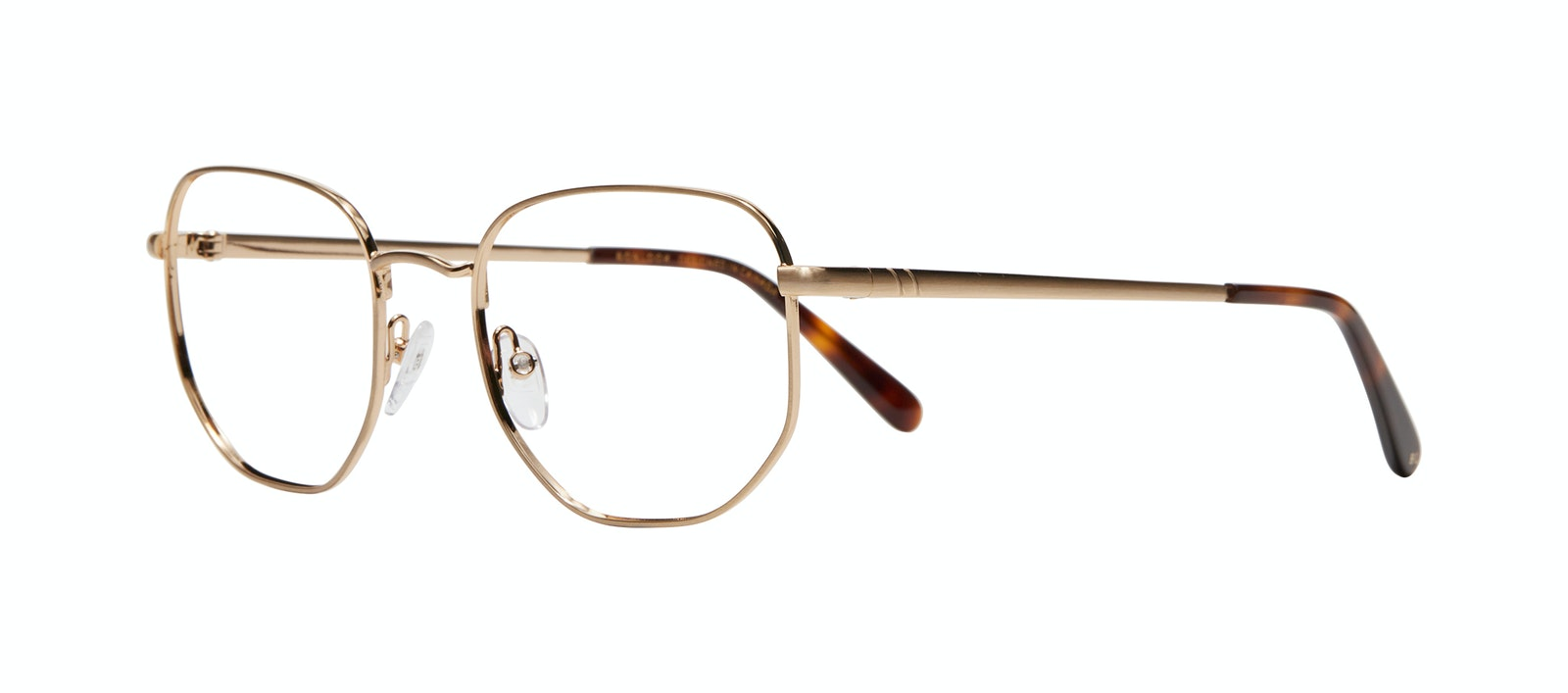 Affordable Fashion Glasses Square Eyeglasses Men Global L Matte Gold Tilt