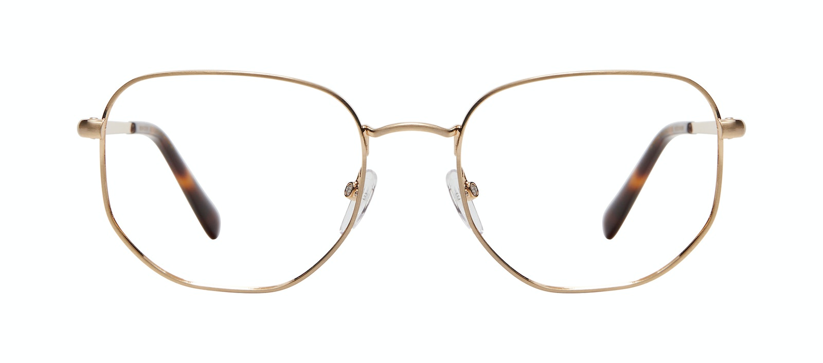 Affordable Fashion Glasses Square Eyeglasses Men Global L Matte Gold Front