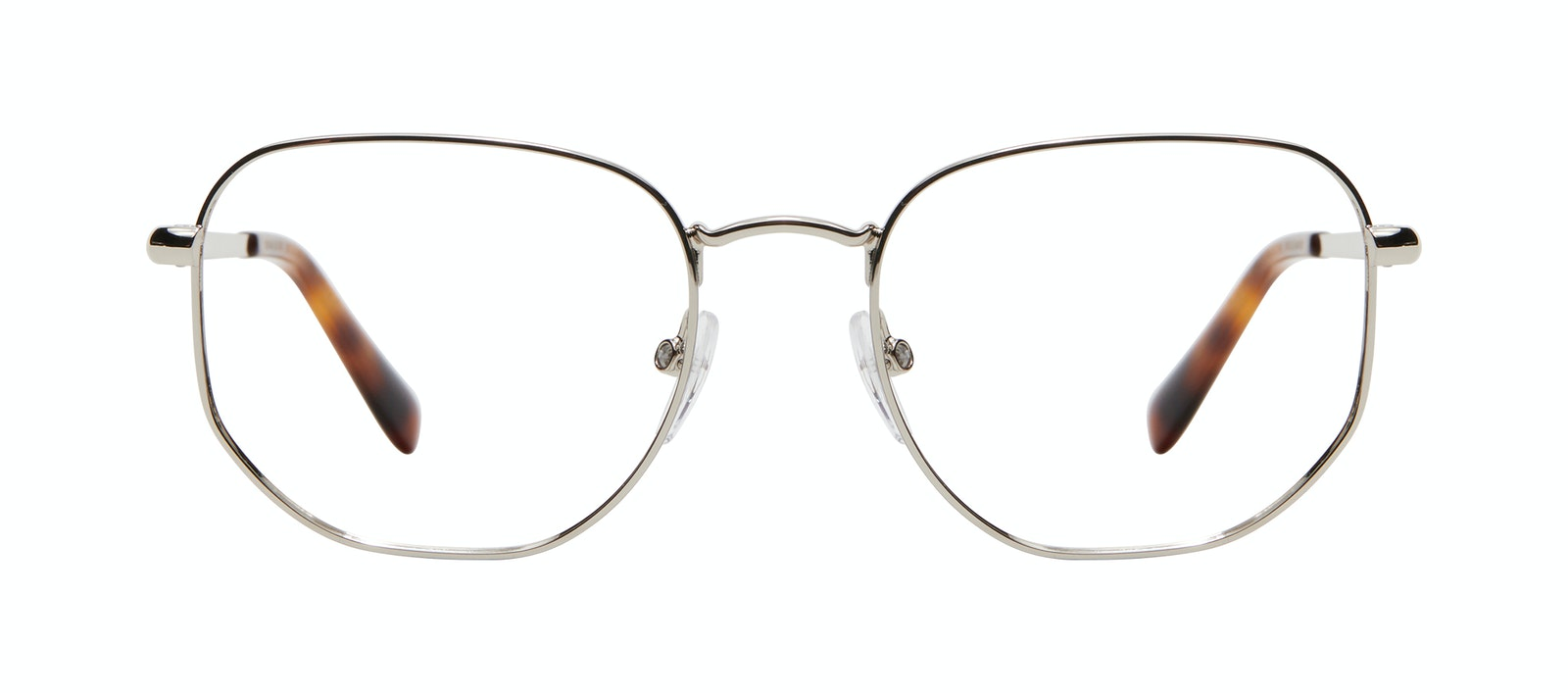 Affordable Fashion Glasses Square Eyeglasses Men Global L Silver Front