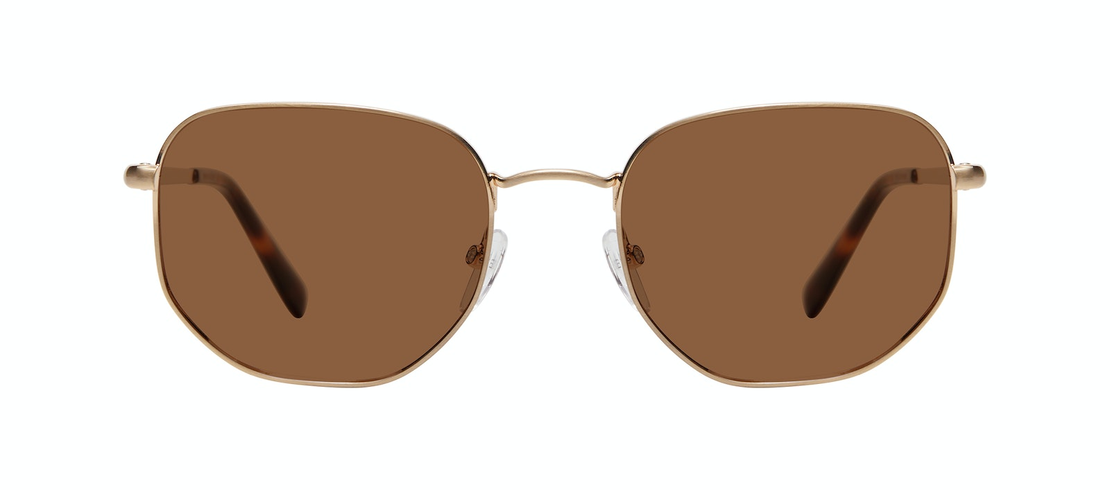 Affordable Fashion Glasses Square Sunglasses Men Global M Matte Gold Front