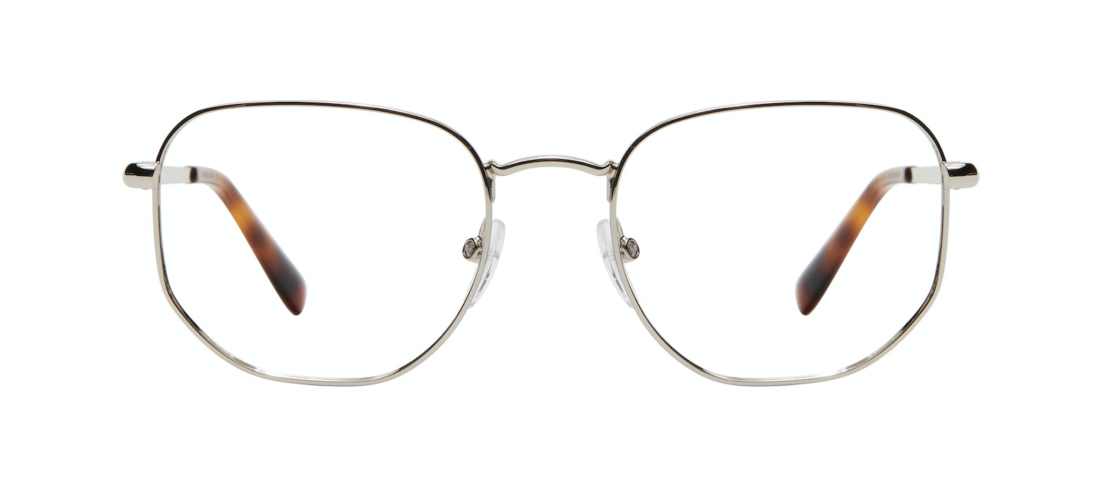 Affordable Fashion Glasses Square Eyeglasses Men Global M Silver Front