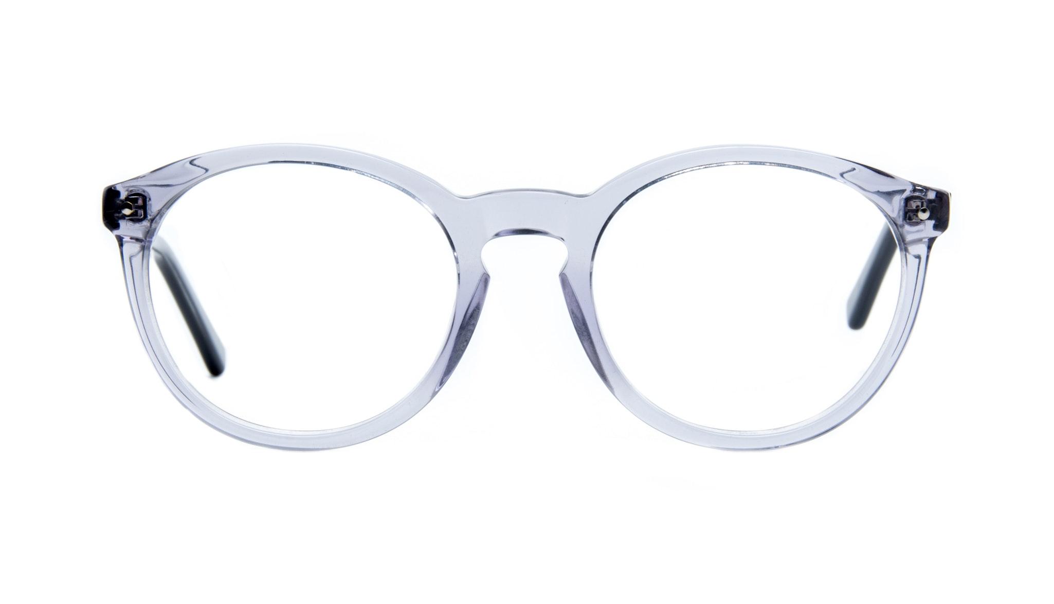 Affordable Fashion Glasses Round Eyeglasses Women Glow Grey Metal Front
