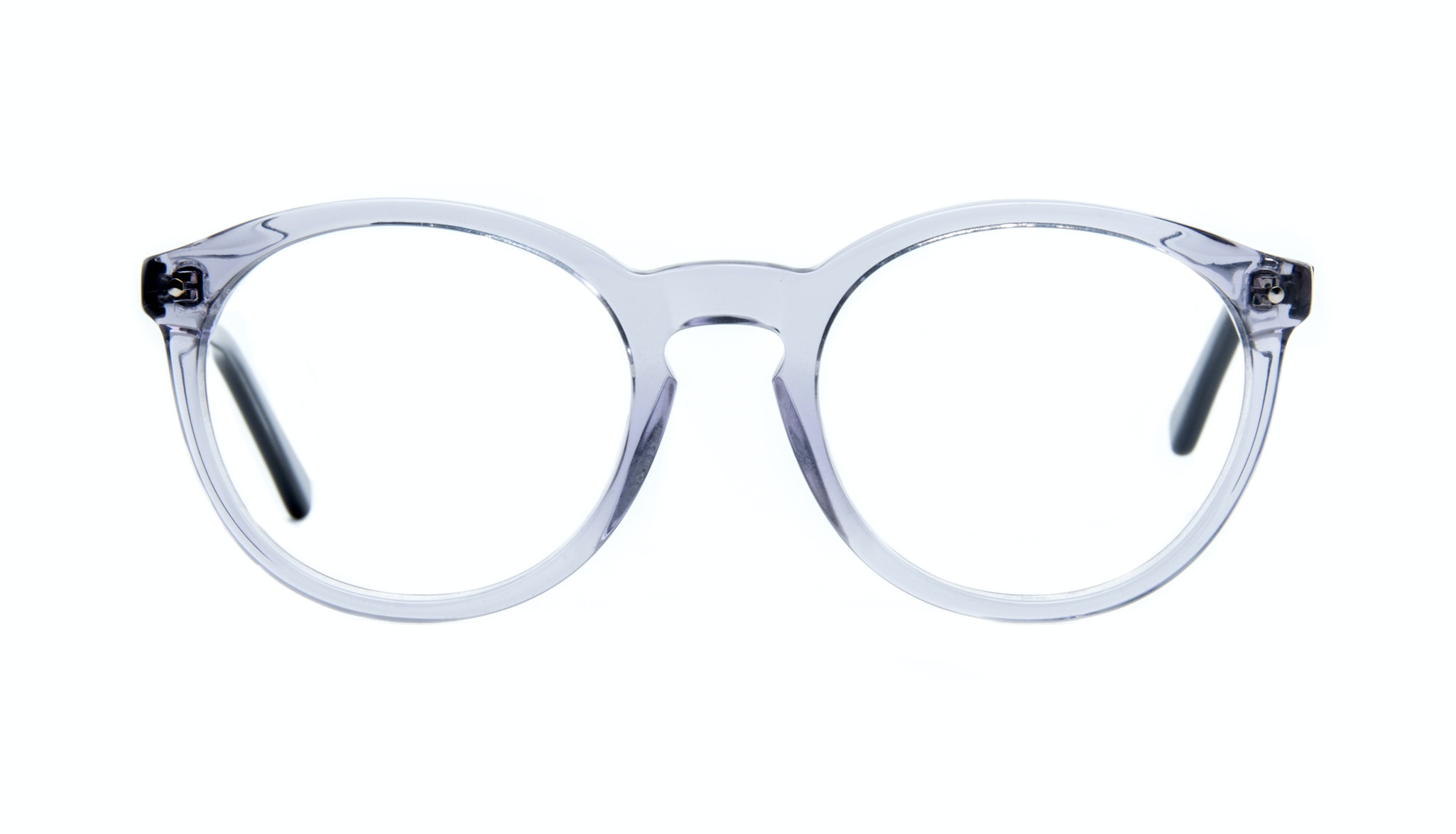 Affordable Fashion Glasses Round Eyeglasses Women Glow Grey Metal