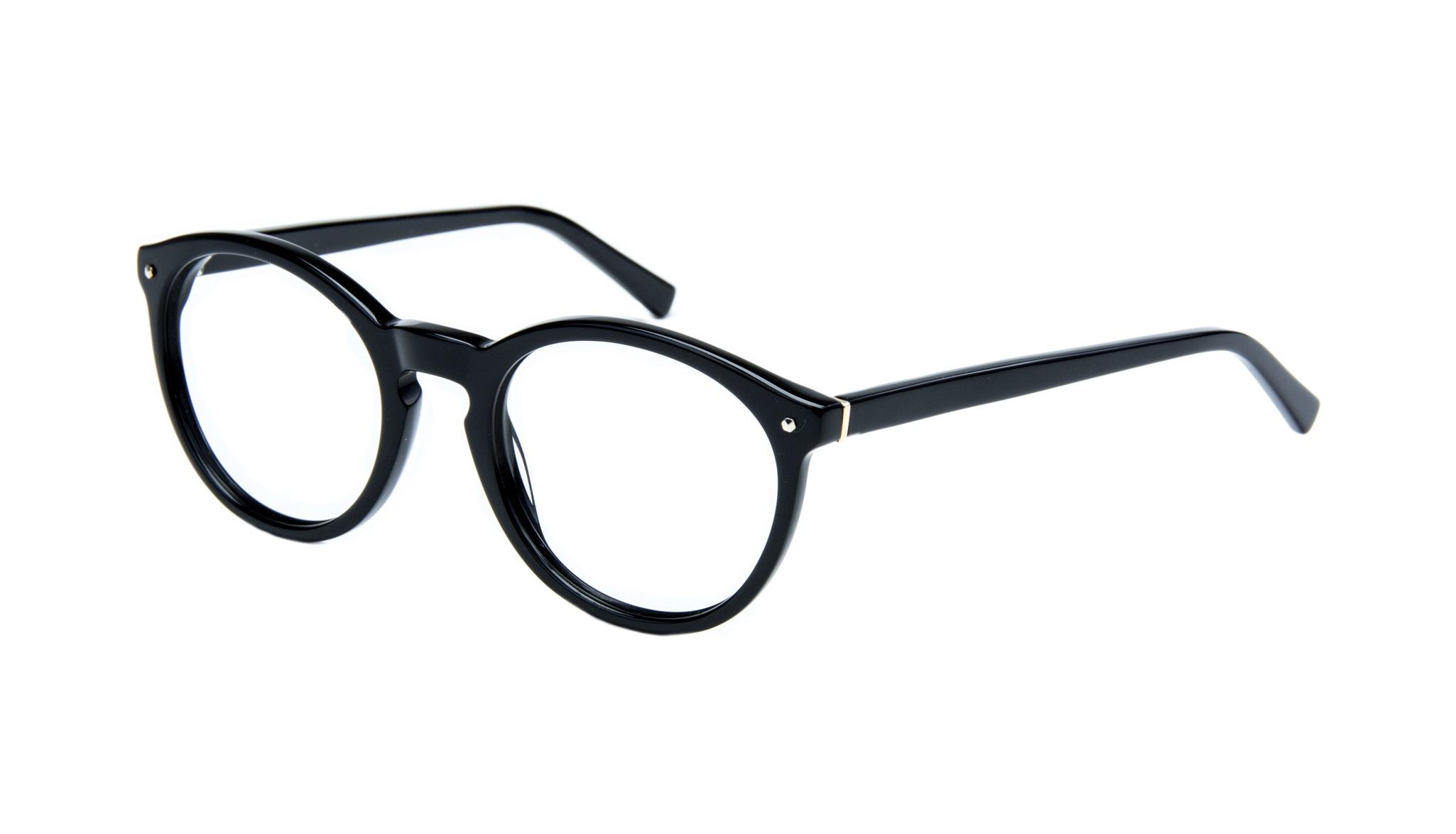 Affordable Fashion Glasses Round Eyeglasses Women Glow Onyx Tilt