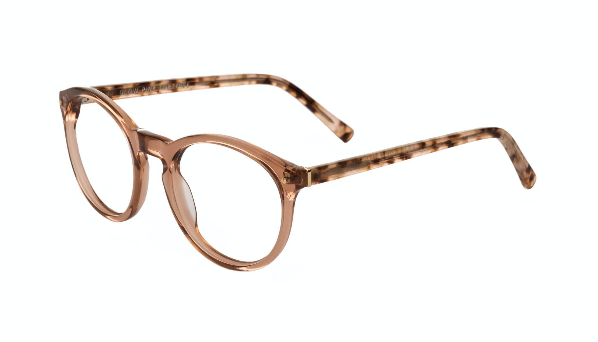 Affordable Fashion Glasses Round Eyeglasses Women Glow Pink Tortoise Tilt