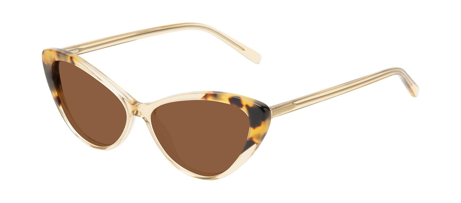 Affordable Fashion Glasses Cat Eye Sunglasses Women Gossamer Golden Tort Tilt