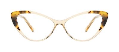 Lunettes tendance Oeil de chat Lunettes de vue Femmes Gossamer Golden Tort Face