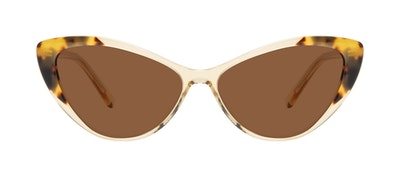 Affordable Fashion Glasses Cat Eye Sunglasses Women Gossamer Golden Tort Front