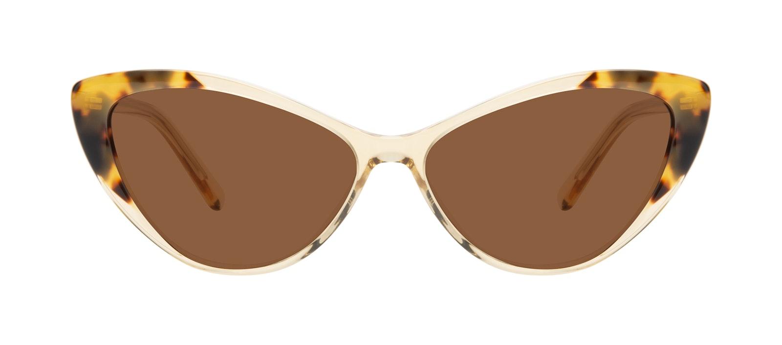 Affordable Fashion Glasses Cat Eye Sunglasses Women Gossamer Golden Tort Front