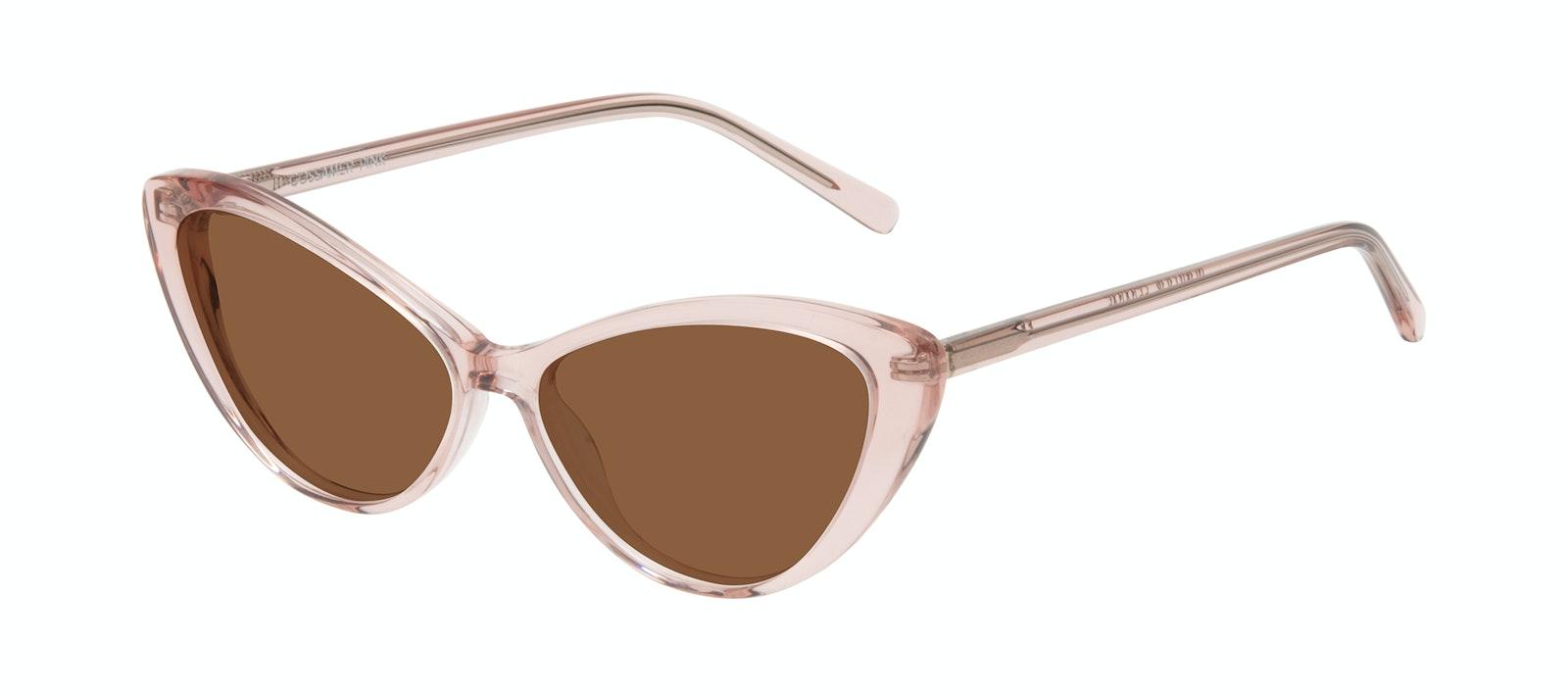 Lunettes tendance Oeil de chat Lunettes de soleil Femmes Gossamer Pink Incliné