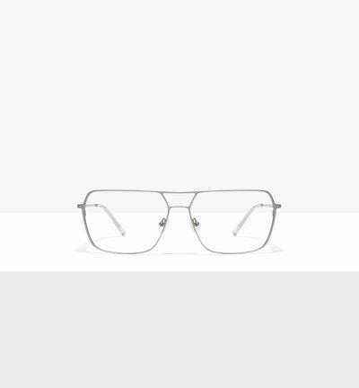 Affordable Fashion Glasses Aviator Eyeglasses Men Grade Silver Front