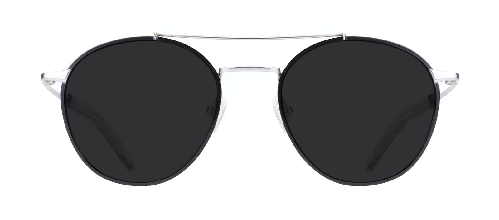 9ef2bb148af Affordable Fashion Glasses Aviator Sunglasses Men Gravity Black Silver Front
