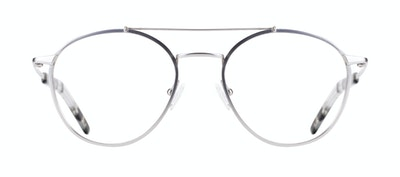 Affordable Fashion Glasses Aviator Eyeglasses Men Gravity Silver Front