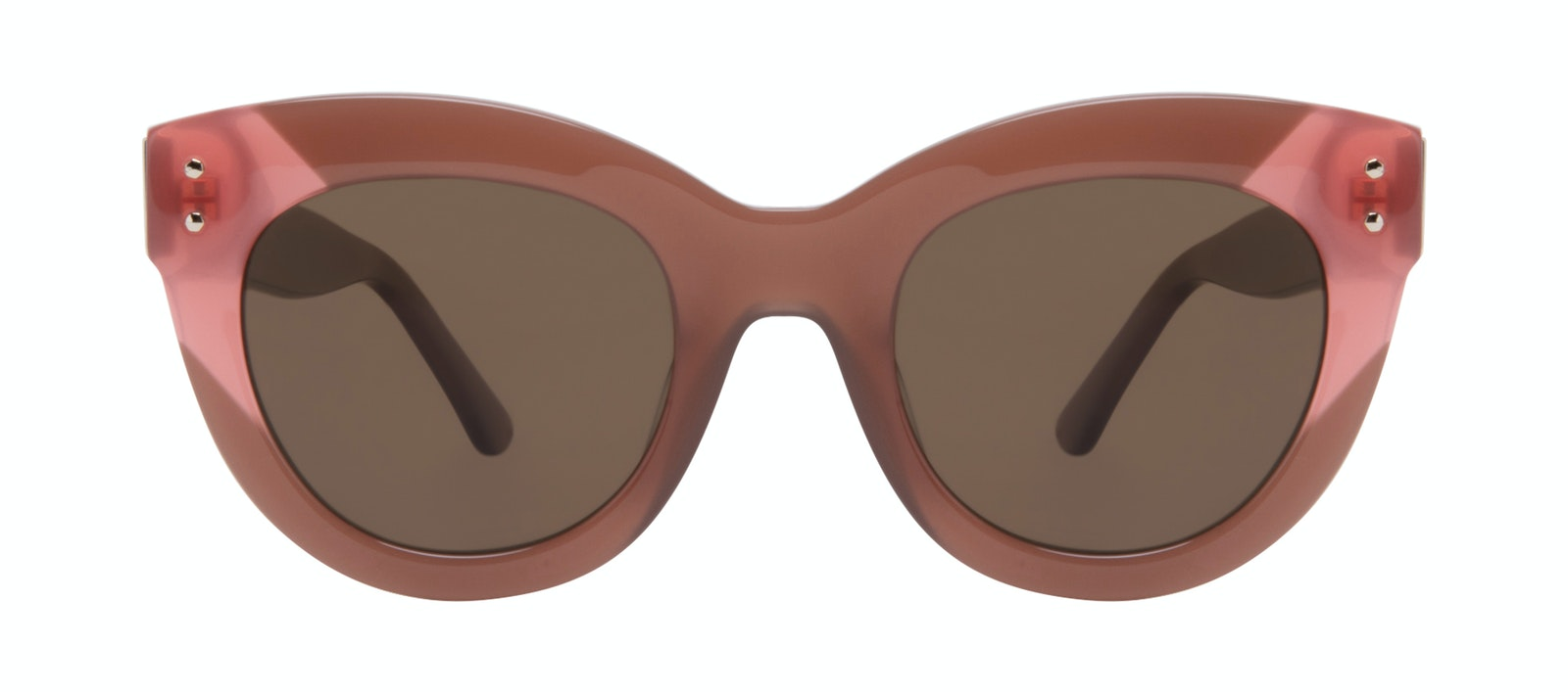 Affordable Fashion Glasses Cat Eye Sunglasses Women Groove Toffee Front