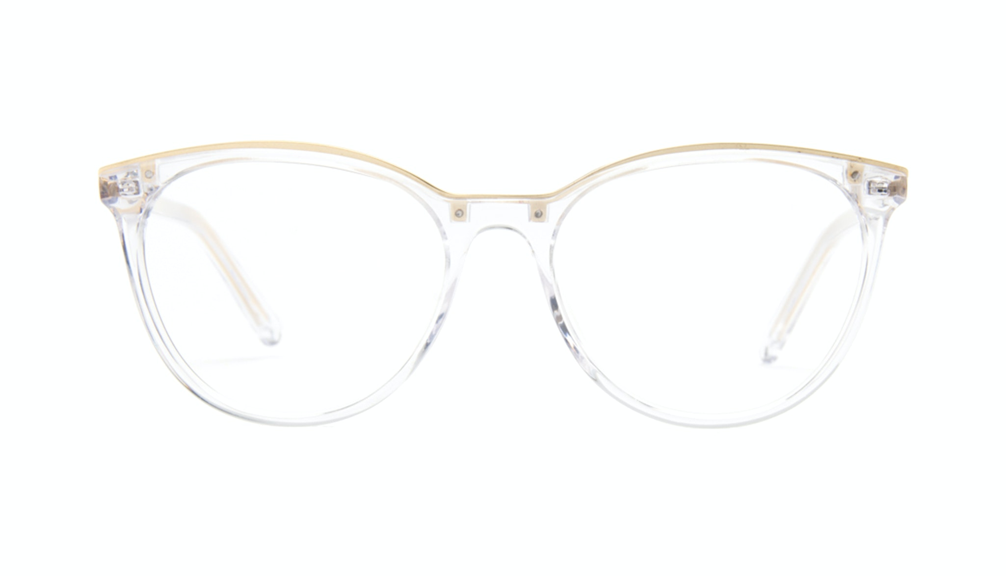 Affordable Fashion Glasses Round Eyeglasses Women Gypsy Diamond Gold Front