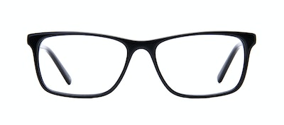 Affordable Fashion Glasses Rectangle Eyeglasses Men Henri Black Front