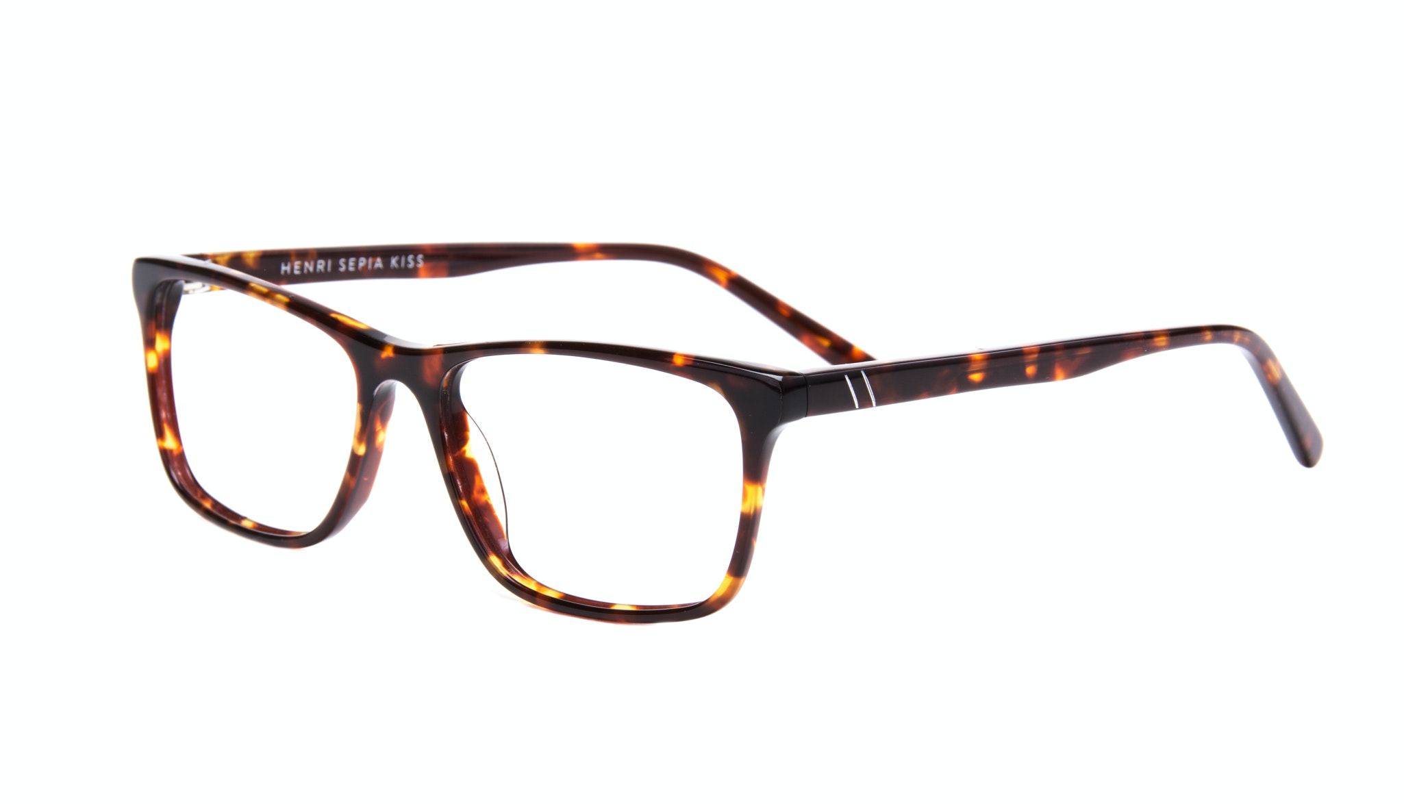 Affordable Fashion Glasses Rectangle Eyeglasses Men Henri Sepia Kiss Tilt