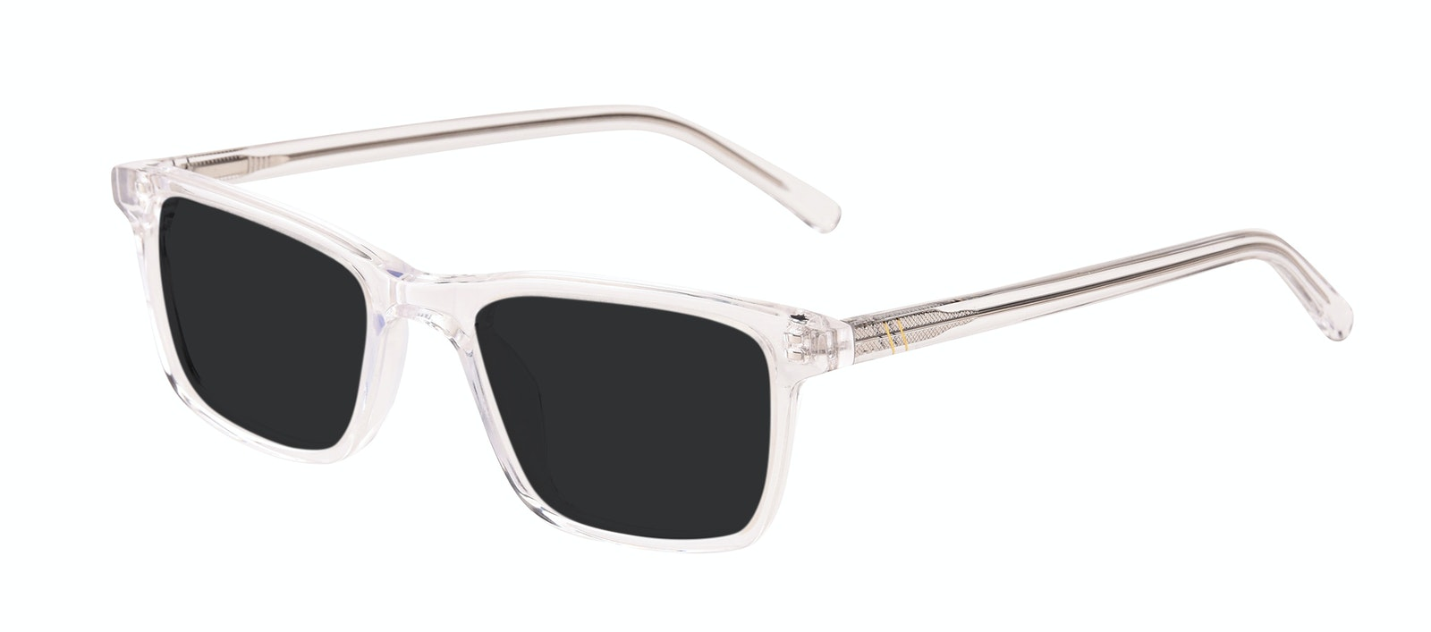 Affordable Fashion Glasses Rectangle Sunglasses Men Henri SML Clear Tilt